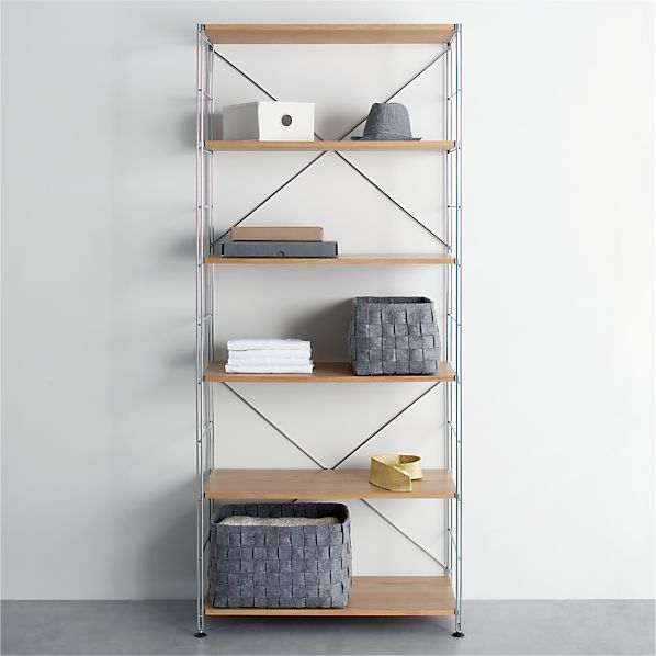 MAX Chrome 6-Shelf Unit with Wood Shelves