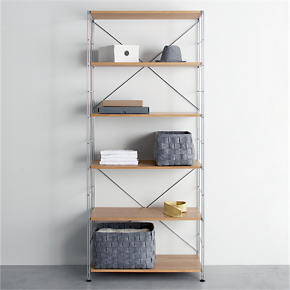 MAX Chrome Six-Shelf Unit with Wood...