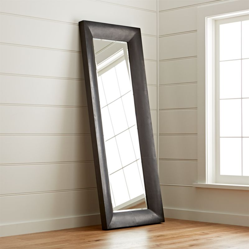 Maxx Black Floor Mirror Crate And Barrel