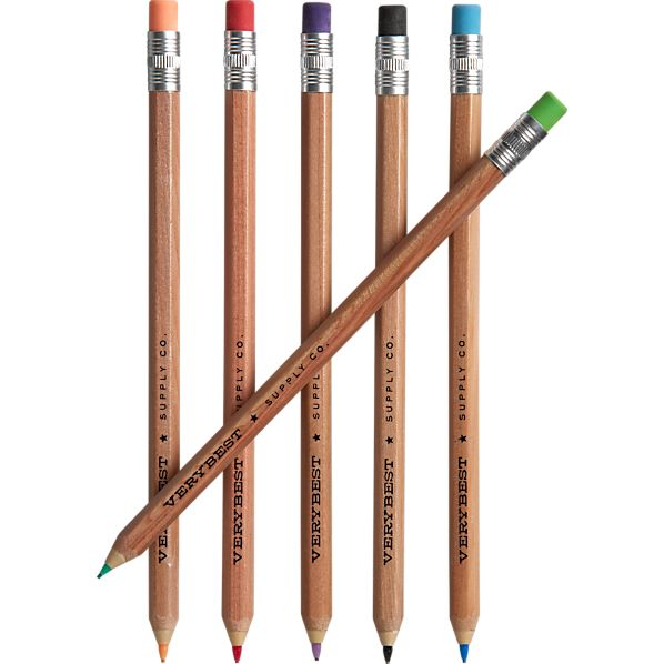 Set of 6 Colored Mechanical Pencils
