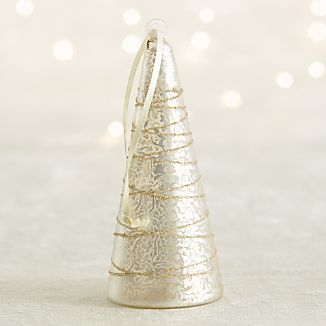 Silver Mercury Glass Tree Ornament