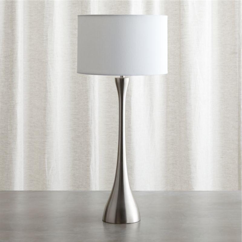 melrose nickel table lamp crate and barrel. Black Bedroom Furniture Sets. Home Design Ideas