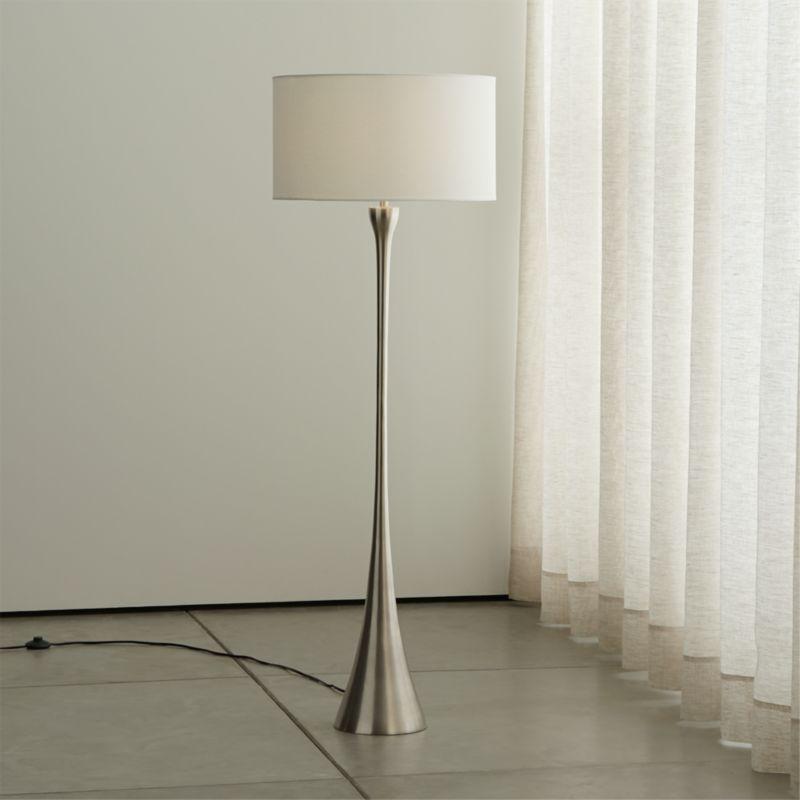 Melrose Nickel Floor Lamp
