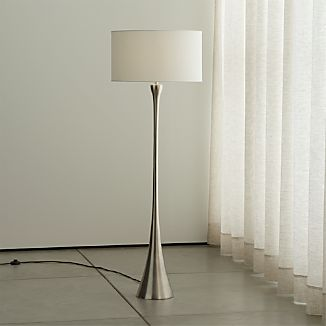 Melrose Nickel Floor Lamp