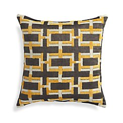 """Melton 18"""" Pillow with Feather-Down Insert"""