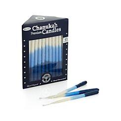 Blue Ombre Hanukkah Menorah Candles Set of 45