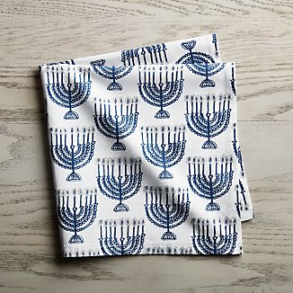 Menorah Cloth Dinner Napkin