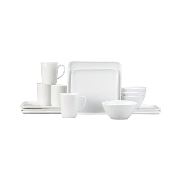 Mercer 16-Piece Dinnerware Set with Square Plates