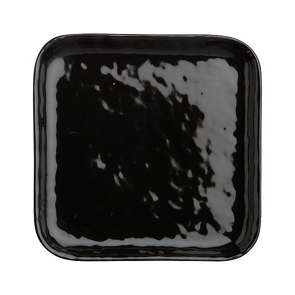 Mercer Black Square Appetizer Plate