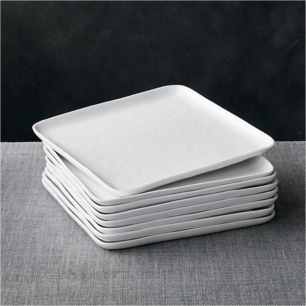 Set of 8 Mercer Square Dinner Plates