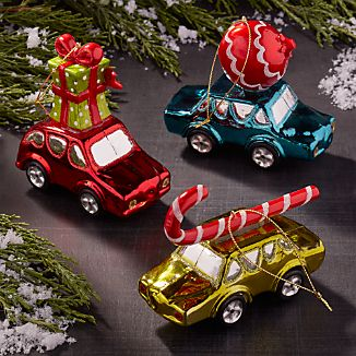 Mercury Glass Car Ornaments
