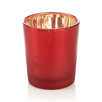 Mercury Red Tea Light Candle Holder