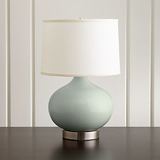 Merie Blue Table Lamp with Nickel Outlet Base