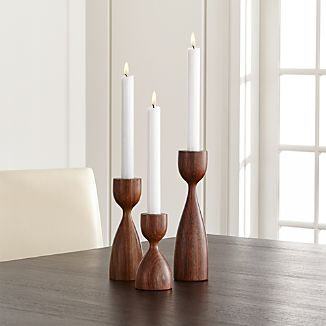 Merritt Solid Wood Taper Candle Holder
