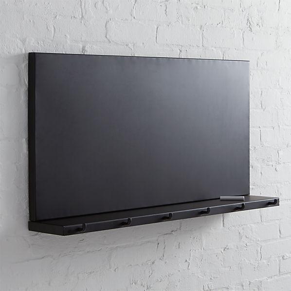 Metal Chalkboard with Shelf