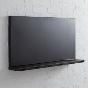 Metal Chalkboard with Shelf