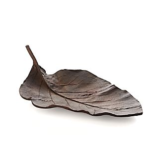 Bronze Metal Leaf Centerpiece Bowl