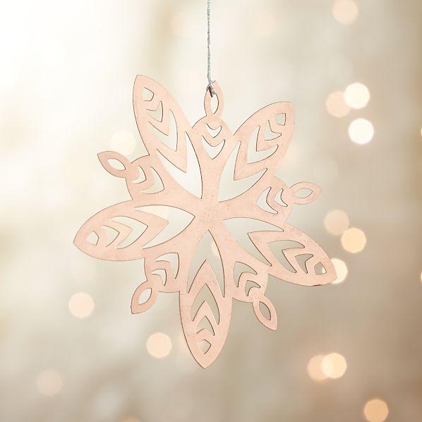 Copper Metal Snowflake