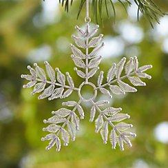 Metal Spring Silver Snowflake Ornament