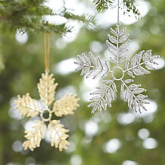 Metal Spring Snowflake Ornaments