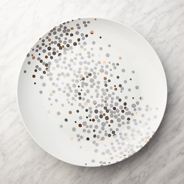 Metallic Dots Round Platter