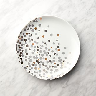 Metallic Dots Salad Plate