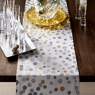 Metallic Dots Table Runner 90""