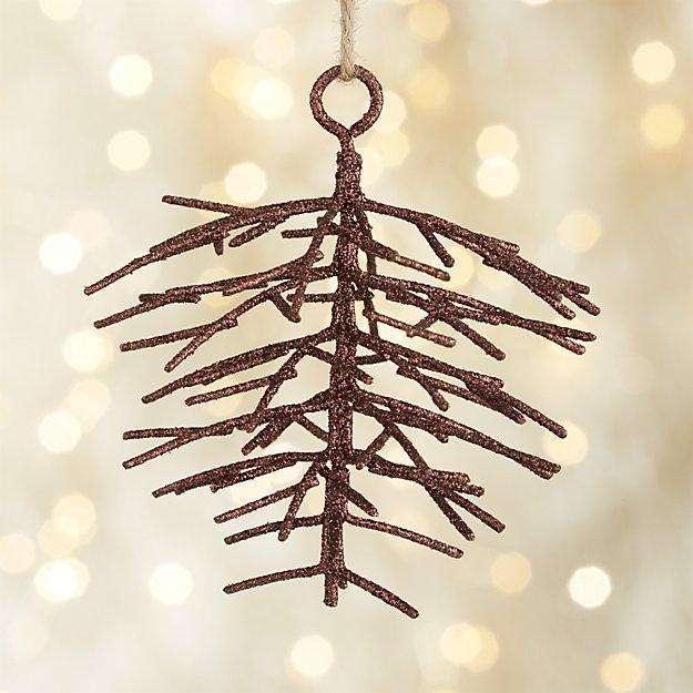 Metallic Glitter Pinecone Bronze Ornament