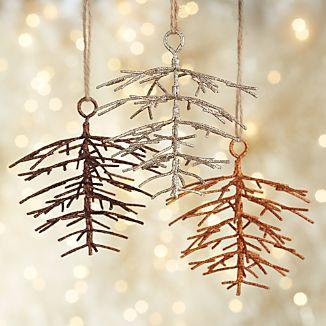 Metallic Glitter Pinecone Ornaments