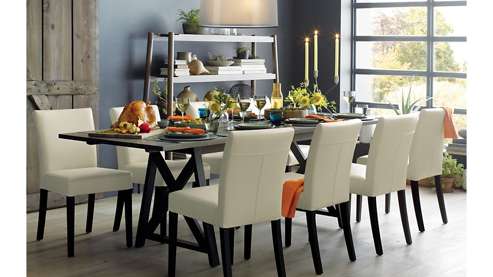 Crate And Barrel Pullman Dining Room Chairs by Lowe Ivory Leather Dining  Chair In Dining Chairs. 28    Crate And Barrel Pullman Dining Room Chairs     Lowe Smoke
