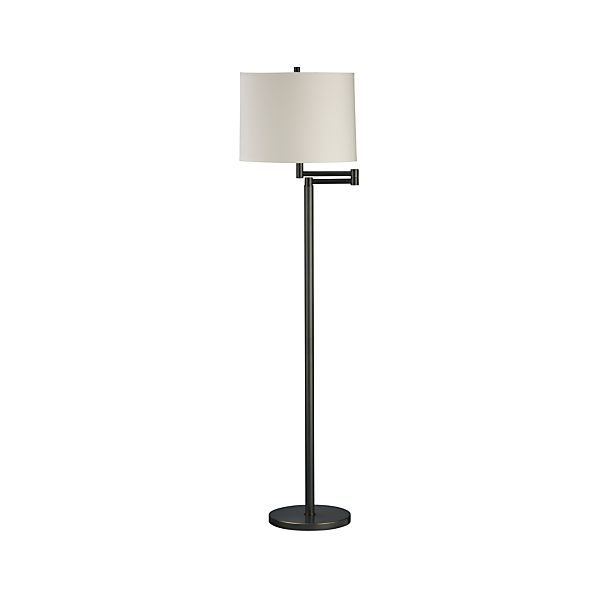 Metro II Bronze Swing Arm Floor Lamp