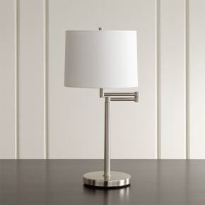 Metro II Brushed Nickel Swing Arm Table Lamp