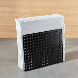 Metro Black Napkin Holder