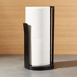 Metro Black Paper Towel Holder