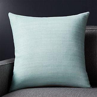 "Michaela Aqua 20"" Pillow with Down-Alternative Insert"