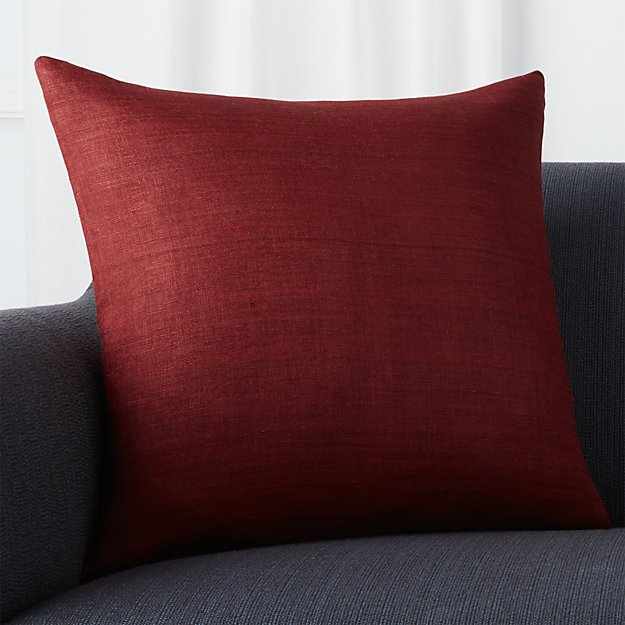 """Michaela Beet 20"""" Pillow with Feather-Down Insert"""