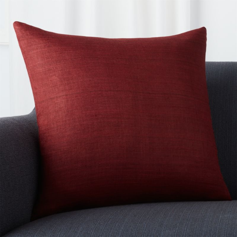 "Michaela Beet 20"" Pillow with Feather-Down Insert"