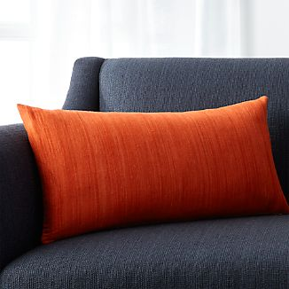 "Michaela Orange 24""x12"" Pillow"