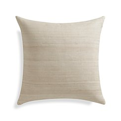 "Michaela Sesame 20"" Pillow with Feather-Down Insert."