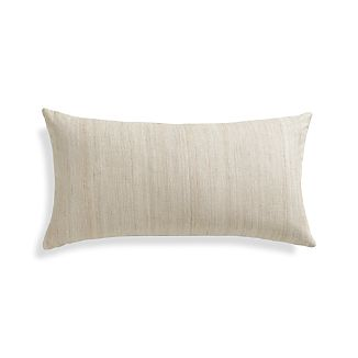 "Michaela Sesame 24""x12"" Pillow with Feather-Down Insert"