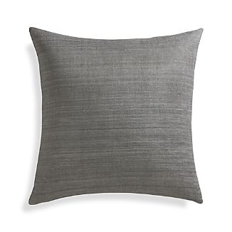 "Michaela Smoke Grey 20"" Pillow with Down-Alternative Insert"