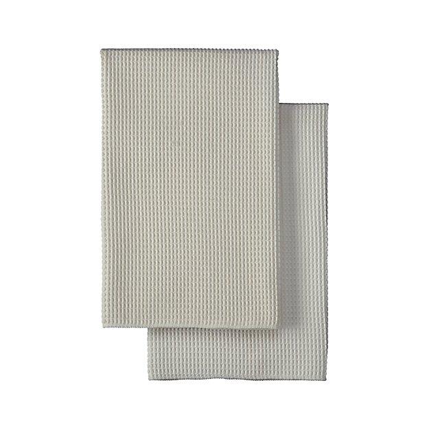 Set Of 2 Microfiber Waffle Dish Towels Crate And Barrel