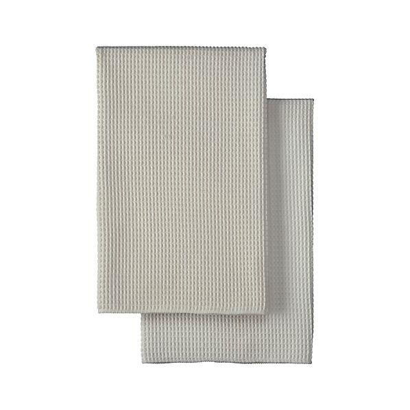 Set of 2 Microfiber Waffle Dish Towels