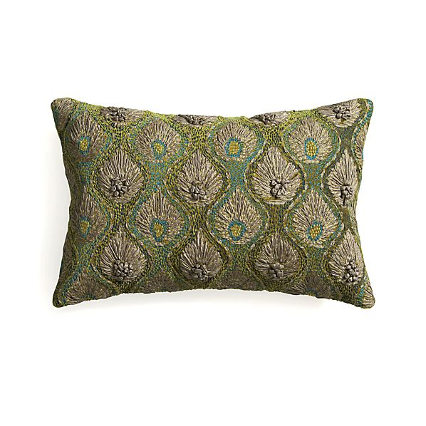 "Midia 20""x13"" Pillow with Feather-Down Insert"