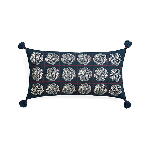 "Miku 24""x12"" Pillow with Down-Alternative Insert"