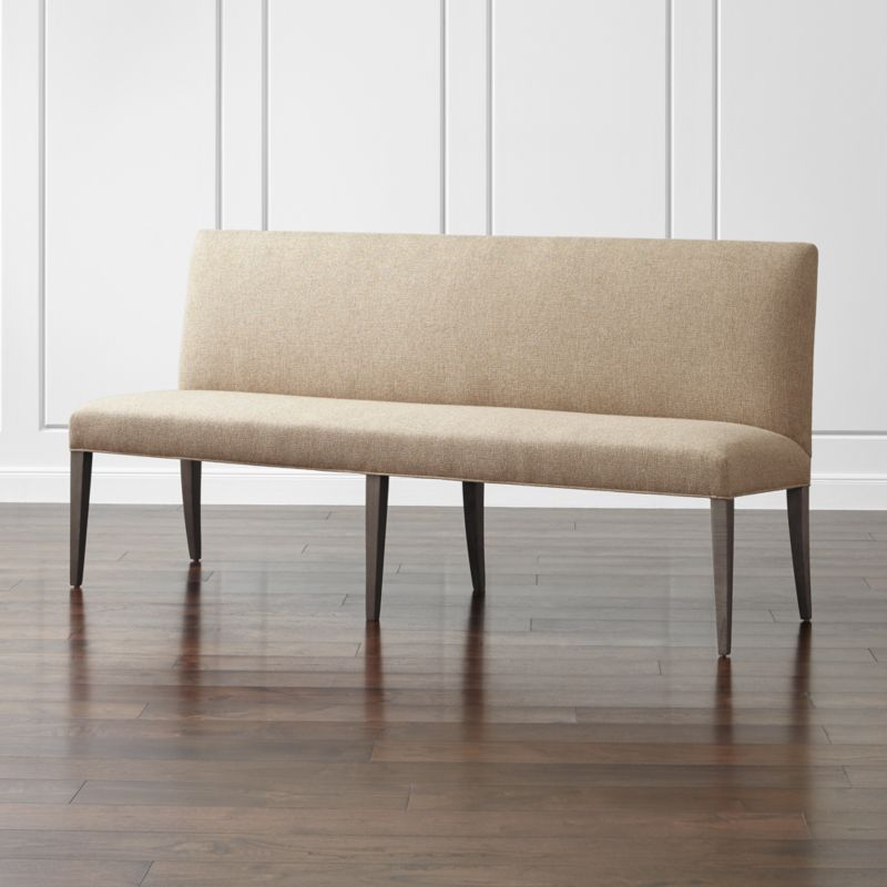 """Miles 76"""" Upholstered Grand Dining Settee"""