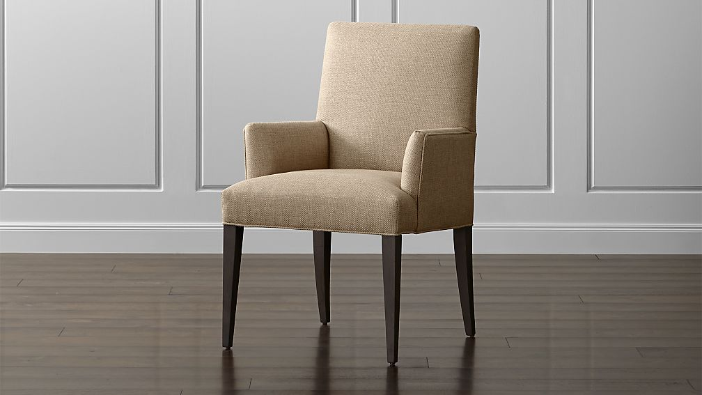 Miles Upholstered Dining Arm Chair Tempo Fennel