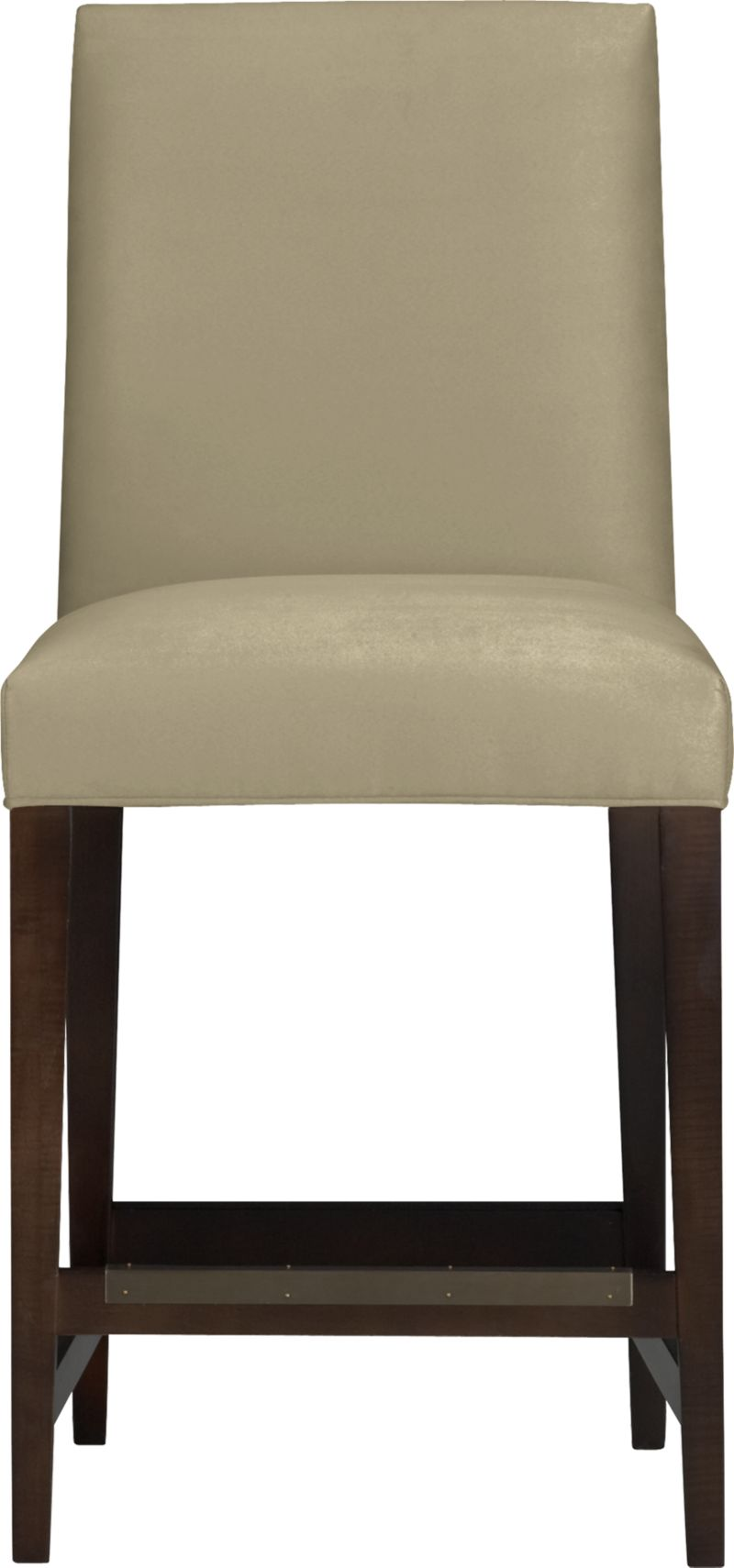 "Our Miles barstool is a fresh new classic with polished proportions and casual formality. Padded seat and gently curved back are upholstered in an easy-care textural poly blend in neutral sand. Slim hickory-colored hardwood legs taper gracefully to the floor.<br /><br />After you place your order, we will send a fabric swatch via next day air for your final approval. We will contact you to verify both your receipt and approval of the fabric swatch before finalizing your order.<br /><br /><NEWTAG/><ul><li>Eco-friendly construction</li><li>Certified sustainable solid engineered hardwood frame</li><li>Soy- or plant-based polyfiber cushions</li><li>Solid maple legs with a hickory finish</li><li>Poly-cotton blend fabric</li><li>24""H seat sized for counters</li><li>Made in North Carolina, USA of domestic and imported materials</li></ul>"