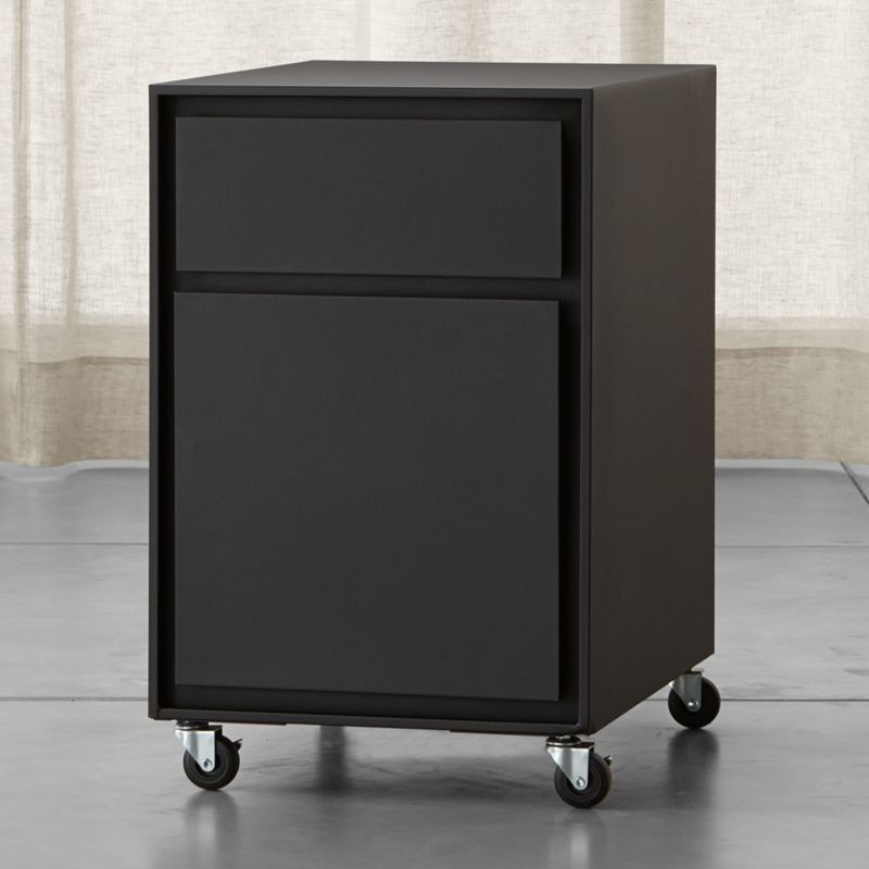 Pilsen Black Two Drawer File Cabinet Crate And Barrel