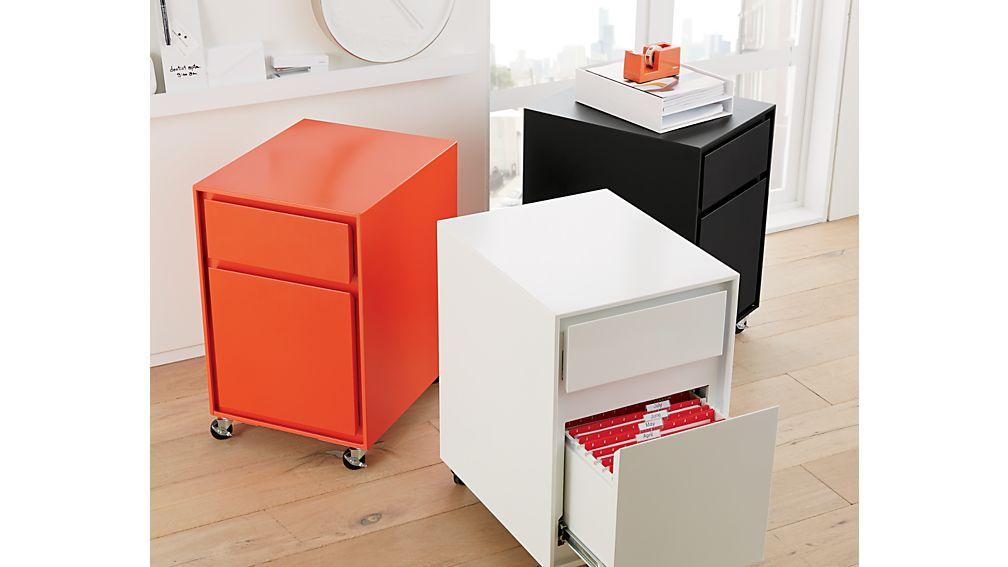 Pilsen Black Two Drawer File Cabinet